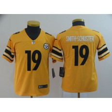 Youth Nike Pittsburgh Steelers #19 JuJu Smith-Schuster Gold Inverted Legend Limited NFL Jersey