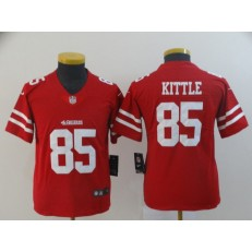 Youth Nike San Francisco 49ers #85 George Kittle Red Vapor Untouchable Limited NFL Jersey