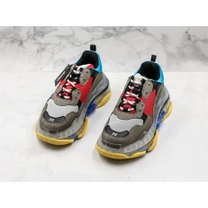BALENCIAGA TRIPLE S SNEAKER 3.0 GREY RED BLUE 541624 W09O1 2120