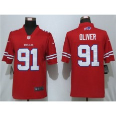 Buffalo Bills #91 Ed Oliver Red Color Rush Limited Nike NFL Men Jersey
