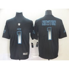 Carolina Panthers #1 Cam Newton Black Arch Smoke Vapor Untouchable Limited Nike NFL Men Jersey