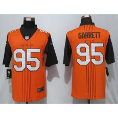 Cleveland Browns #95 Myles Garrett Orange City Edition Vapor Untouchable Limited Nike NFL Men Jersey