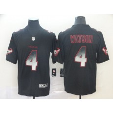Houston Texans #4 Deshaun Watson Black Arch Smoke Vapor Untouchable Limited Nike NFL Men Jersey