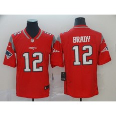New England Patriots #12 Tom Brady Red Inverted Legend Limited Nike NFL Men Jersey