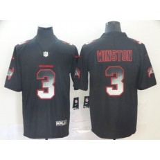 Tampa Bay Buccaneers #3 Jameis Winston Black Arch Smoke Vapor Untouchable Limited Nike NFL Men Jersey