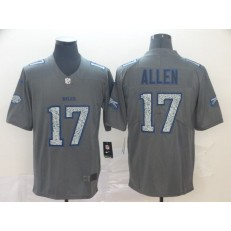 Buffalo Bills #17 Josh Allen Gray Camo Vapor Untouchable Limited Nike NFL Men Jersey