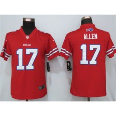 Buffalo Bills #17 Josh Allen Red Women Color Rush Limited Nike NFL Men Jersey