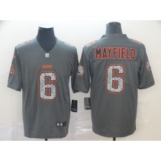 Cleveland Browns #6 Baker Mayfield Gray Camo Vapor Untouchable Limited Nike NFL Men Jersey