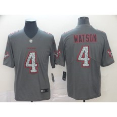 Houston Texans #4 Deshaun Watson Gray Camo Vapor Untouchable Limited Nike NFL Men Jersey