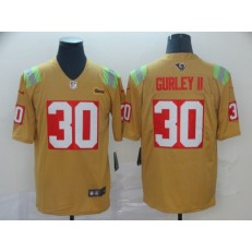 Los Angeles Rams #30 Todd Gurley II Gold City Edition Vapor Untouchable Limited Nike NFL Men Jersey
