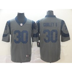 Los Angeles Rams #30 Todd Gurley II Gray Inverted Legend Limited Nike NFL Men Jersey