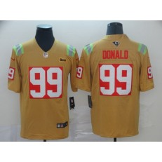 Los Angeles Rams #99 Aaron Donald Gold City Edition Vapor Untouchable Limited Nike NFL Men Jersey