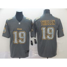 Minnesota Vikings #19 Adam Thielen Gray Camo Vapor Untouchable Limited Nike NFL Men Jersey