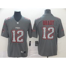 New England Patriots #12 Tom Brady Gray Camo Vapor Untouchable Limited Nike NFL Men Jersey
