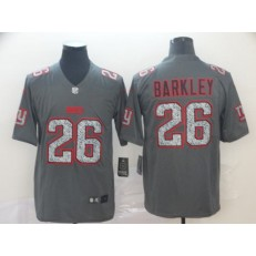 New York Giants #26 Saquon Barkley Gray Camo Vapor Untouchable Limited Nike NFL Men Jersey