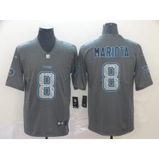 Tennessee Titans #8 Marcus Mariota Gray Camo Vapor Untouchable Limited Nike NFL Men Jersey