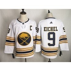 Buffalo Sabres #9 Jack Eichel White 50th Anniversary Adidas NHL Men Jersey