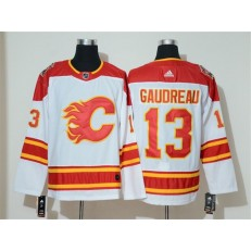 Calgary Flames #13 Johnny Gaudreau White 2019 Heritage Classic Breakaway Adidas NHL Men Jersey