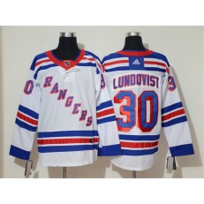 New York Rangers #30 Henrik Lundqvist White Adidas NHL Men Jersey