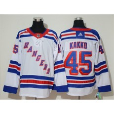 New York Rangers #45 Kaapo Kakko White Adidas NHL Men Jersey