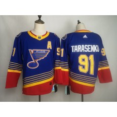 St.Louis Blues #91 Vladimir Tarasenko Blue Adidas NHL Men Jersey