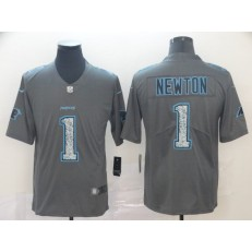 Carolina Panthers #1 Cam Newton Gray Camo Vapor Untouchable Limited Nike NFL Men Jersey