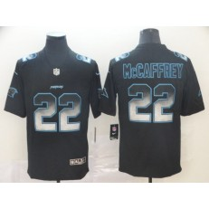 Carolina Panthers #22 Christian McCaffrey Black Arch Smoke Vapor Untouchable Limited Nike NFL Men Jersey