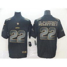 Carolina Panthers #22 Christian McCaffrey Black Gold Vapor Untouchable Limited Nike NFL Men Jersey