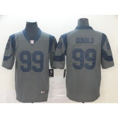 Los Angeles Rams #99 Aaron Donald Gray Inverted Legend Limited Nike NFL Men Jersey