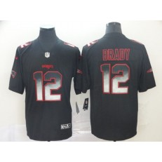 New England Patriots #12 Tom Brady Black Arch Smoke Vapor Untouchable Limited Nike NFL Men Jersey