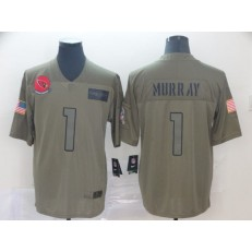 Arizona Cardinals #1 Kyler Murray 2019 Olive Salute To Service Limited Nike NFL Men Jersey