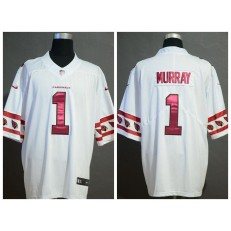 Arizona Cardinals #1 Kyler Murray White Team Logos Fashion Vapor Limited Nike NFL Men Jersey