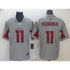 Arizona Cardinals #11 Larry Fitzgerald Silver Inverted Legend Nike NFL Men Jersey