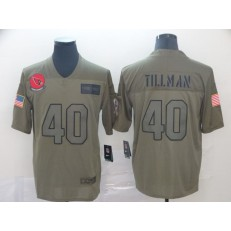 Arizona Cardinals #40 Pat Tillman 2019 Olive Salute To Service Limited Nike NFL Men Jersey