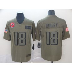 Atlanta Falcons #18 Calvin Ridley 2019 Olive Salute To Service Limited Nike NFL Men Jersey