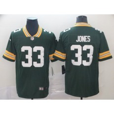 Green Bay Packers #33 Aaron Jones Green Vapor Untouchable Limited Nike NFL Men Jersey