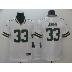 Green Bay Packers #33 Aaron Jones White Vapor Untouchable Limited Nike NFL Men Jersey