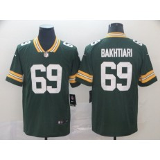 Green Bay Packers #69 David Bakhtiari Green Vapor Untouchable Limited Nike NFL Men Jersey