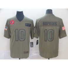 Houston Texans #10 DeAndre Hopkins 2019 Olive Salute To Service Limited Nike NFL Men Jersey