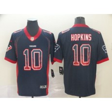 Houston Texans #10 DeAndre Hopkins Black Drift Fashion Limited Nike NFL Men Jersey