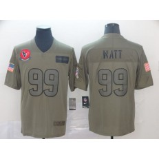 Houston Texans #99 J.J. Watt 2019 Olive Salute To Service Limited Nike NFL Men Jersey