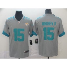 Jacksonville Jaguars #15 Gardner Minshew II Gray Inverted Legend Limited Nike NFL Men Jersey