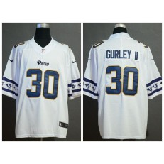 Los Angeles Rams #30 Todd Gurley II White Team Logos Fashion Vapor Limited Nike NFL Men Jersey