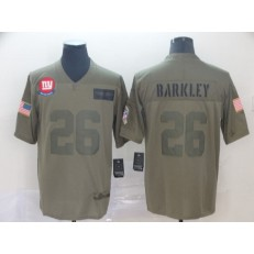 New York Giants #26 Saquon Barkley 2019 Olive Salute To Service Limited Nike NFL Men Jersey