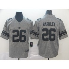New York Giants #26 Saquon Barkley Gray Gridiron Gray Vapor Untouchable Limited Nike NFL Men Jersey