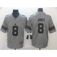 New York Giants #8 Daniel Jones Gray Gridiron Gray Vapor Untouchable Limited Nike NFL Men Jersey