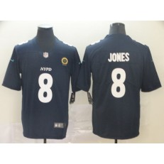 New York Giants #8 Daniel Jones Navy City Edition Vapor Untouchable Limited Nike NFL Men Jersey