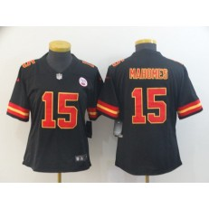 Women Nike Kansas City Chiefs #15 Patrick Mahomes Black Vapor Untouchable Limited Jersey