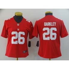 Women Nike New York Giants #26 Saquon Barkley Red Inverted Legend Limited Jersey