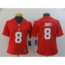 Women Nike New York Giants #8 Daniel Jones Red Inverted Legend Limited Jersey